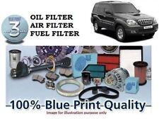 FOR HYUNDAI TERRACAN 2003-2007 NEW SERVICE KIT OIL AIR FUEL ( 3 )  FILTER SET