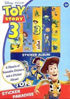 Toy Story Party Supplies / Gifts / Favour Stickers with Album approx 40 Stickers