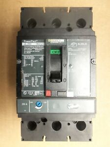 SQUARE D JL 250 JLL36250 3 POLE 250 AMP 600V POWERPACT CIRCUIT BREAKER