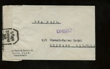 India Censored Sea Mail Advertising (Radio&Electric Co) Cover 1944 Camp Karachi