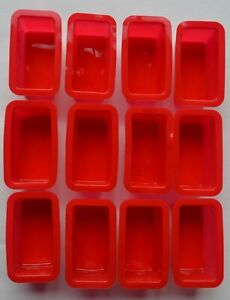 SILICONE RED MINI LOAF TINS PACK OF 12 OR 24