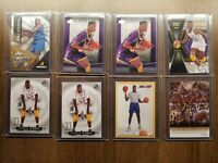 Shaquille O'neal basketball card lot of (8) Orlando Magic, LSU Tigers, Lakers