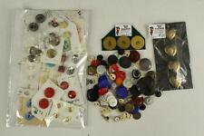 Vintage Variety Sewing Lot Estate Buttons & Covers Plastic Bakelite Metal Carded