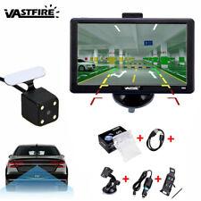 GPS Car Navigation 7 Inch Truck Lifetime Maps Bluetooth AT NAV+170° Night Camera