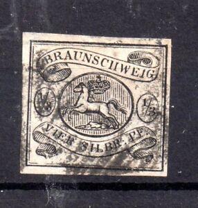 Braunschweig 1856 1/3gr on white fine used #5 Cat Val £425 WS19762