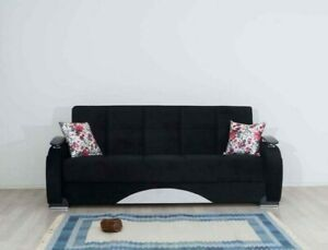 3 SEATER TURKISH HAND MADE FABRIC SOFA BED WITH STORAGE AND 2 FREE PILLOWS