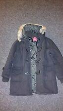 50be449bb0c2 JACK   JONES Herren Parka Winterjacke Mantel Jacket L XL schwarz Fell warm