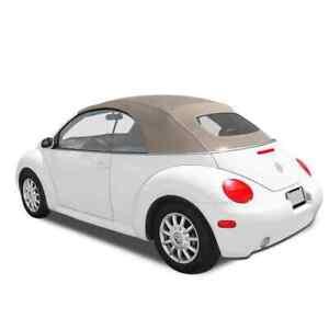 Convertible Top for Volkswagen Beetle 2003-2010, Heated Glass, Cream, Canvas