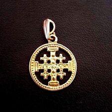 Jerusalem Cross Pilgrim Pendant Yellow Gold 14kt solid #48