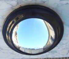 Miroir sorciere ovale cadre bois laque noir napoleon III miroir bombe 19ème
