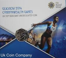 2014 Glasgow Commonwealth Games Royal Mint Brilliant Uncirculated 50p Coin Pack