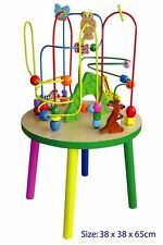 New Quality Wooden Kids EDUCATIONAL TOY - Wire Bead Maze Activity Table H: 65cm