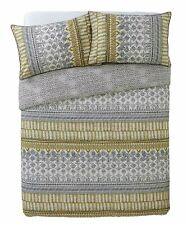 Sainsbury's Home Tribal King Size Duvet Set Cover Ochre Grey Bedding African