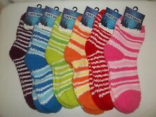6 Pairs Of Women's Cozy Footie Socks. Soft, Cozy & Fuzzy. Priced To Sell!