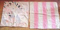 ANTIQUE DOLL QUILT  QUILTS  PAIR CRAZY AND BARS QUILT C 1900
