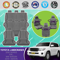FOR TOYOTA LANDCRUISER 200 SERIES 2010-15 CANVAS WATERPROOF TAILORED SEAT COVER
