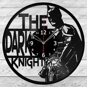 Vinyl Clock The Dark Knight Vinyl Record Wall Clock Home Art Decor Handmade 4924