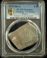 1679-Mo L Mexico 8 Reales PCGS Genuine VF Details  - you can see the date : )