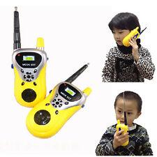 2 piezas Interphon Mini walkie niños ELECTRONIC TOY Portátil Dos Salidas Radio