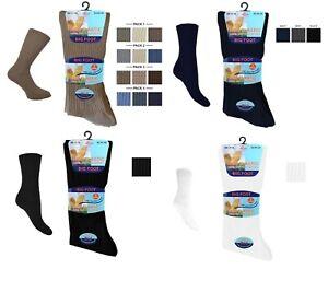 Men's Gents Diabetic 100% Cotton Soft Comfort Top Gentle Grip Socks Size 11-14
