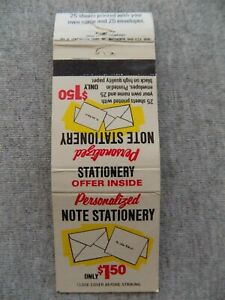 Vtg 1976 Matchbook Cover Personalized Note Stationery Offer Only $1.50