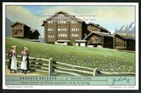 Swiss Chalet Architecture Building Switzerland 1920s Trade Ad Card