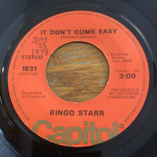Ringo Starr It Don't Come Easy Early 1970 Capitol Orange (1976)