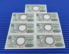 7X 1959 Malaya and British Borneo $1 Dollar Note C/6 275626-275632 Run Banknote