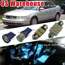 7-pc Aqua Ice Blue LED Light Interior Package Lamp Dome Kit For Audi A4 or S4 B5