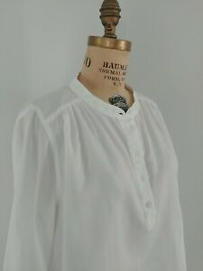 NWT Madewell White Button Down Classic Top L