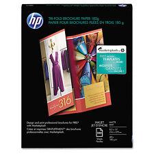 Hp Inkjet Tri-Fold Brochure Paper 103 Brightness 48lb 8-1/2 x 11 White 100/PK