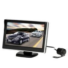 "5"" TFT LCD Car Reverse Monitor Display Backup System HD Rearview Camera 12V New"