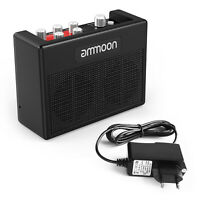 Ammoon Portable Guitar Amplifier Amp 5W+Multi-Effects 80 Drum Power Adapter Q3A5