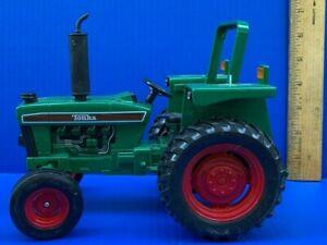 Tonka Maisto Diecast Tractor Green & Black w/ Red Wheels Large 9 Inch