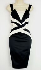 BNWT SIZE 8 EVENING COCKTAIL PARTY OCASSION WIGGLE PENCIL MONOCHROME DRESS US 4