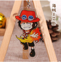 Hot Japan Anime ONE PIECE Portgas·D· Ace Acrylic Key Ring Pendant Keychain Gift