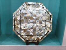 """12"""" Marble Outdoor Table Top Random Marquetry Inlay Occasional Decorative E142"""