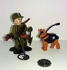 Military World War Army Soldier Dog Custom Minifigure Weapons Fits Lego MY58