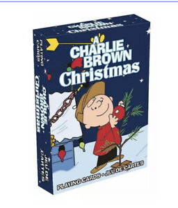 PEANUTS CHARLIE BROWN CHRISTMAS PLAYING CARDS NEW FACTORY SEALED