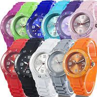 Classic Stylish Silicon Jelly Strap Unisex Women Lady Girls Wrist Watch Hot Sell