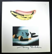 "Andy Warhol, Hand Signed Print ""Banana – Space Fruit Oranges"", with COA."