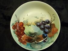 VINTAGE ADOLPH PERSCH AP AUSTRIA GRAPE PATTERN HANDPAINTED 7 1/2 INCH BOWL NICE
