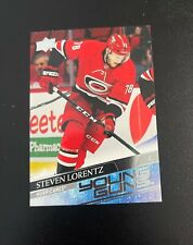 Upper Deck NHL Steven Lorentz Hurricanes Young Guns Card #494
