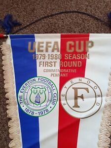 Everton v Feyenoord UEFA Cup 1979 Pennant  Size  50x24cm