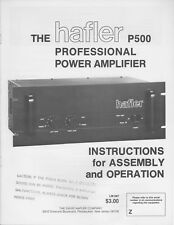 HAFLER INSTRUCTION / SERVICE MANUALS  SET  PDF