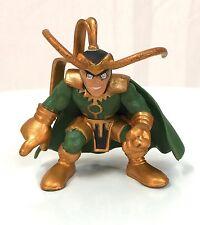 Marvel Super Hero Squad RARE LOKI Bronze / Dark Green from Avengers Wave 4