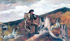 A Huntsman and Dogs by Winslow Homer 75cm x 44cm High Quality Canvas Art Print