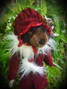 Ooak Doll with animal head hybrid gothic