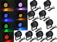 10x 86 LED RGB Stage Lights Par Disco Party Pub DJ DMX-512 Laser Projector Light
