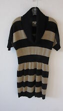 Ann Taylor Loft Striped Merino Wool Blend Sweater Dress Size-S Short Sleeve